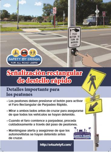 Pedestrians RRFB Spanish